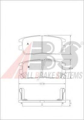 Колодки тормозные A.B.S. 36781