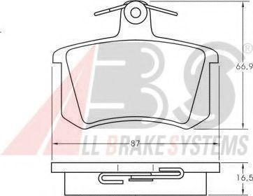 Колодки тормозные A.B.S. 36818