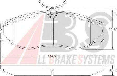 Колодки тормозные A.B.S. 36861