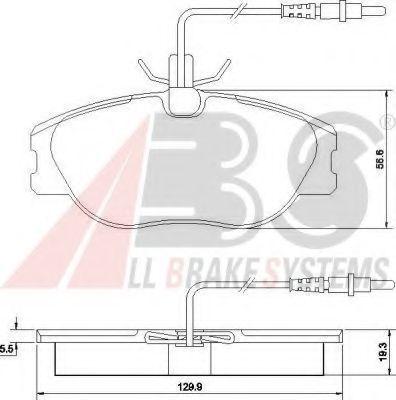 Колодки тормозные A.B.S. 36899