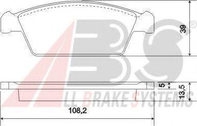 Колодки тормозные A.B.S. 37.002