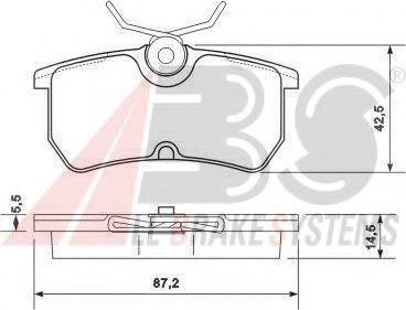 Колодки тормозные A.B.S. 37101