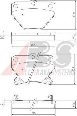 Колодки тормозные A.B.S. 37136