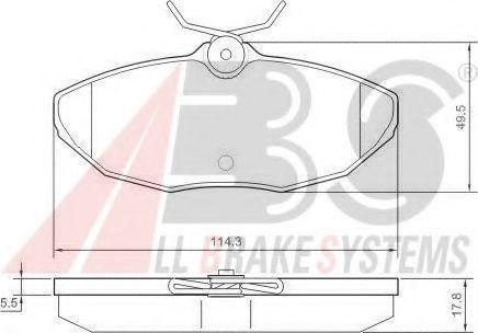 Колодки тормозные A.B.S. 37178