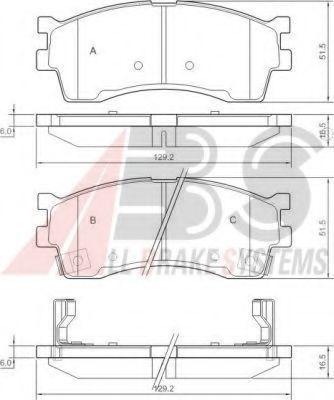 Колодки тормозные A.B.S. 37180