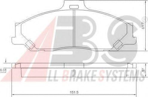 Колодки тормозные A.B.S. 37193