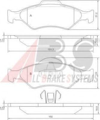 Колодки тормозные A.B.S. 37196