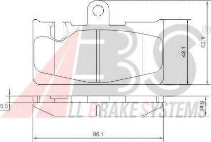 Колодки тормозные A.B.S. 37264