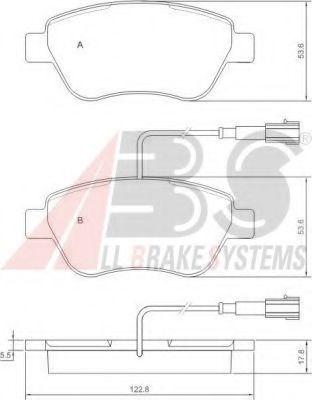 Колодки тормозные A.B.S. 37280