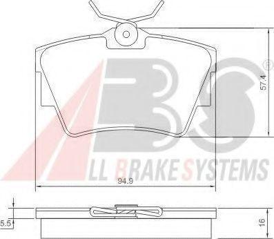 Колодки тормозные A.B.S. 37288