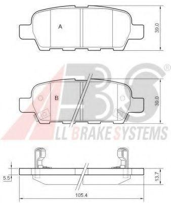 Колодки тормозные A.B.S. 37321