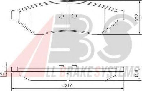 Колодки тормозные A.B.S. 37438