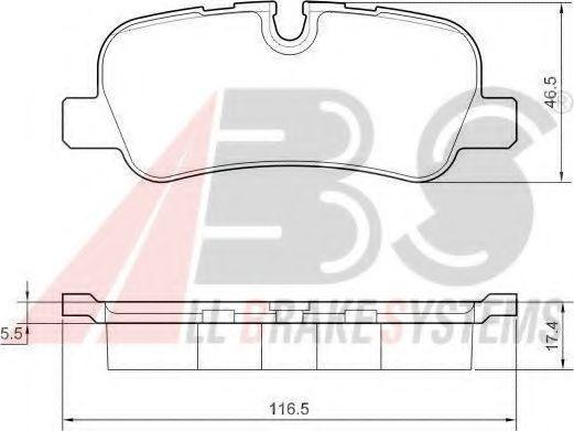 Колодки тормозные A.B.S. 37500