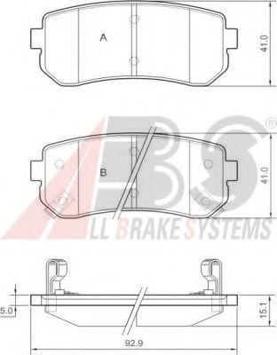 Колодки тормозные A.B.S. 37533