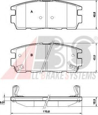 Колодки тормозные A.B.S. 37583