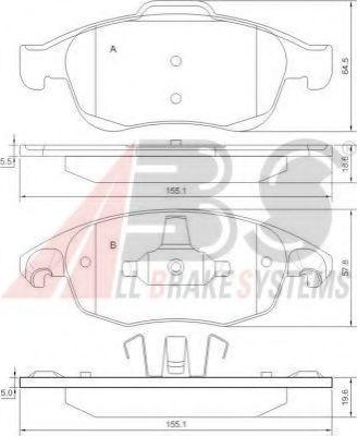 Колодки тормозные A.B.S. 37598