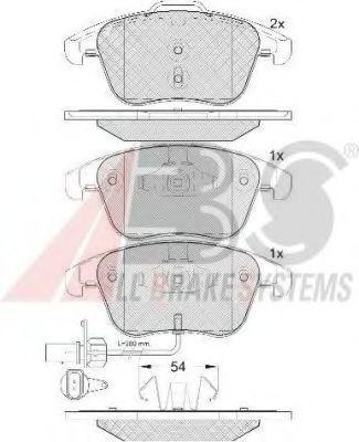Колодки тормозные A.B.S. 37612
