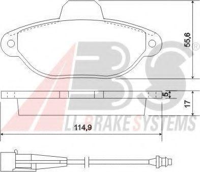 Колодки тормозные A.B.S. 37896