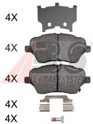 Колодки тормозные A.B.S. 37956