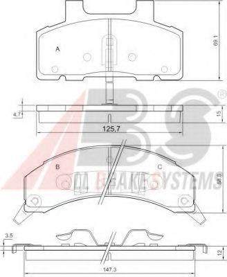 Колодки тормозные A.B.S. 38215