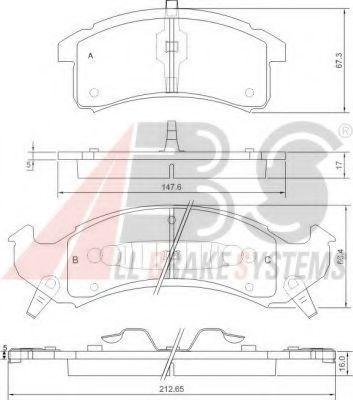 Колодки тормозные A.B.S. 38505