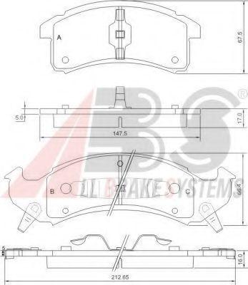 Колодки тормозные A.B.S. 38623