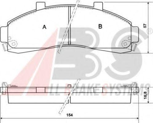 Колодки тормозные A.B.S. 38652