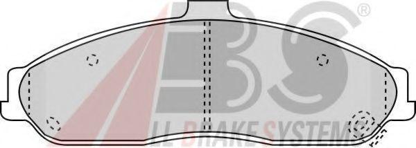 Колодки тормозные A.B.S. 38731