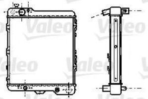 Радиатор, охлаждение двигателя VALEO 732439
