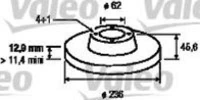 Тормозной диск VALEO 186530