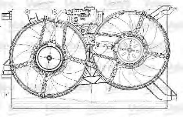 Электродвигатель, вентилятор радиатора VALEO 696022