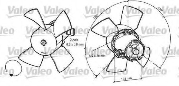 Вентилятор, охлаждение двигателя VALEO 696035