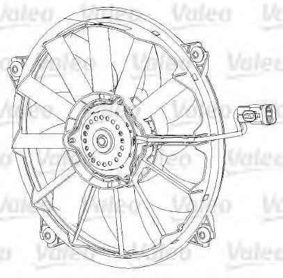 Вентилятор охлаждения двигателя VALEO 696091