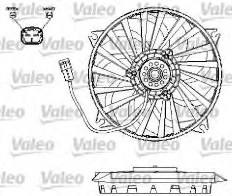 Вентилятор, охлаждение двигателя VALEO 696132