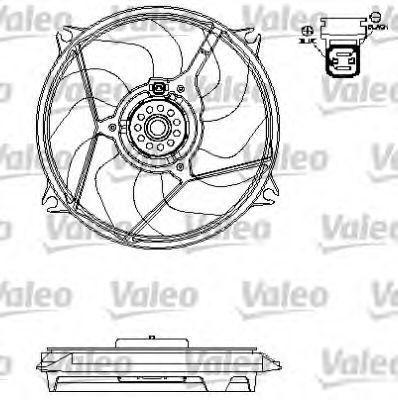 Вентилятор, охлаждение двигателя VALEO 696138