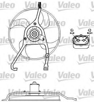 Вентилятор, охлаждение двигателя VALEO 696210
