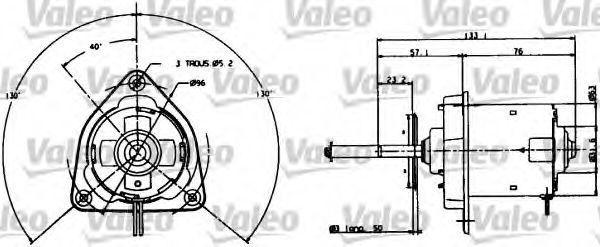 Электродвигатель, вентилятор радиатора VALEO 698004