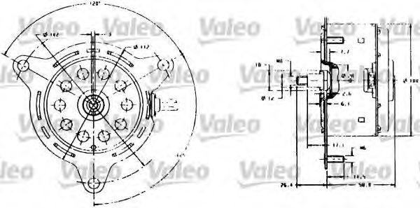 Электродвигатель, вентилятор радиатора VALEO 698007