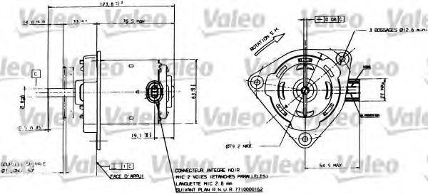 Электродвигатель вентилятора радиатора VALEO 698084