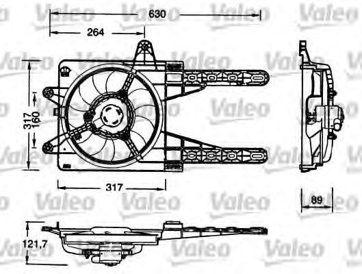 Электродвигатель вентилятора радиатора VALEO 698178