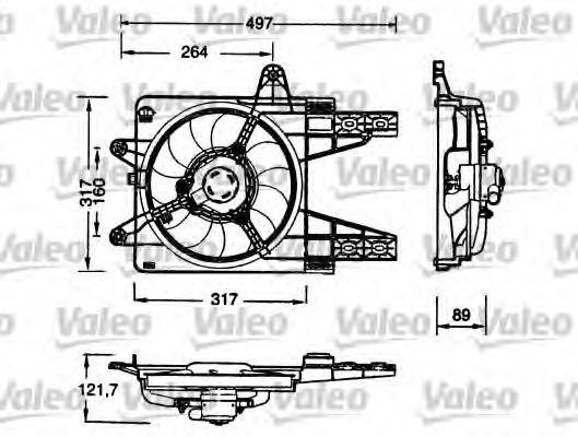 Электродвигатель вентилятора радиатора VALEO 698179