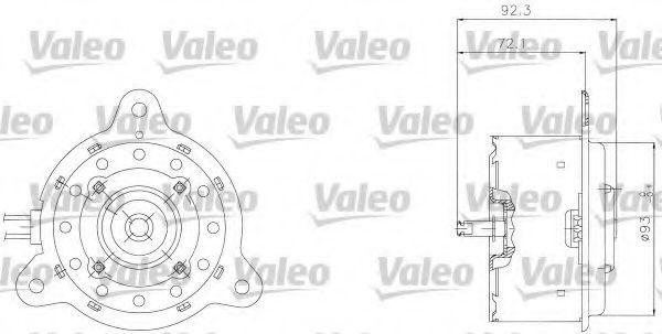 Электродвигатель, вентилятор радиатора VALEO 698301
