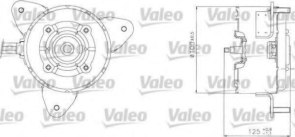 Электродвигатель, вентилятор радиатора VALEO 698304