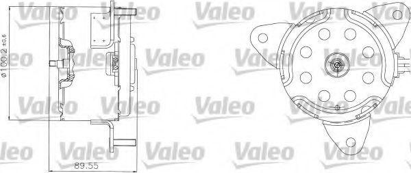 Электродвигатель, вентилятор радиатора VALEO 698308