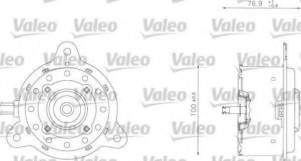 Электродвигатель, вентилятор радиатора VALEO 698342