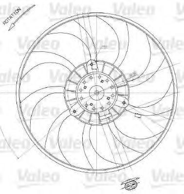 Вентилятор радиатора VALEO 698412