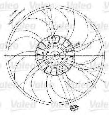 Вентилятор охлаждения двигателя VALEO 698424