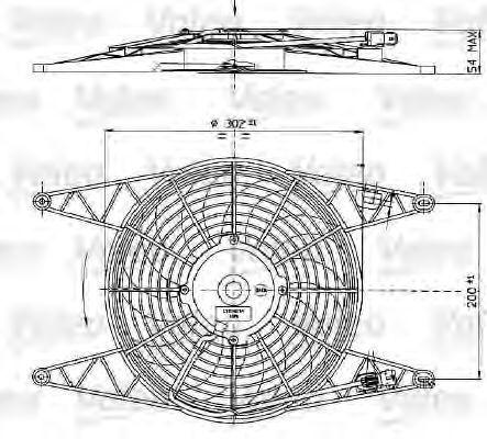 Вентилятор, охлаждение двигателя VALEO 698425