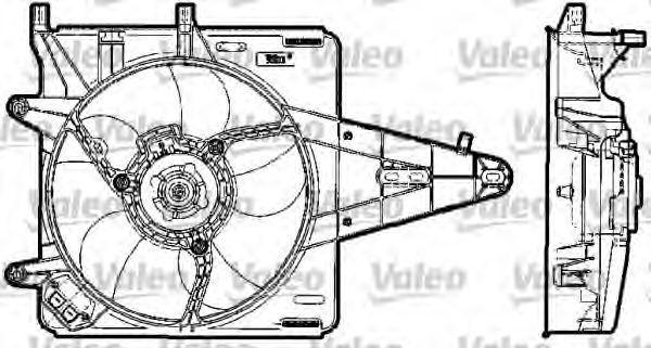 Электродвигатель, вентилятор радиатора VALEO 698519