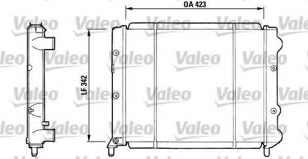 Радиатор, охлаждение двигателя VALEO 730081